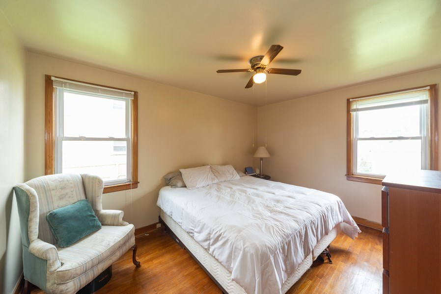 Real Estate Photography - 1028 Linden Avenue, Bellwood, IL, 60104 - Master Bedroom