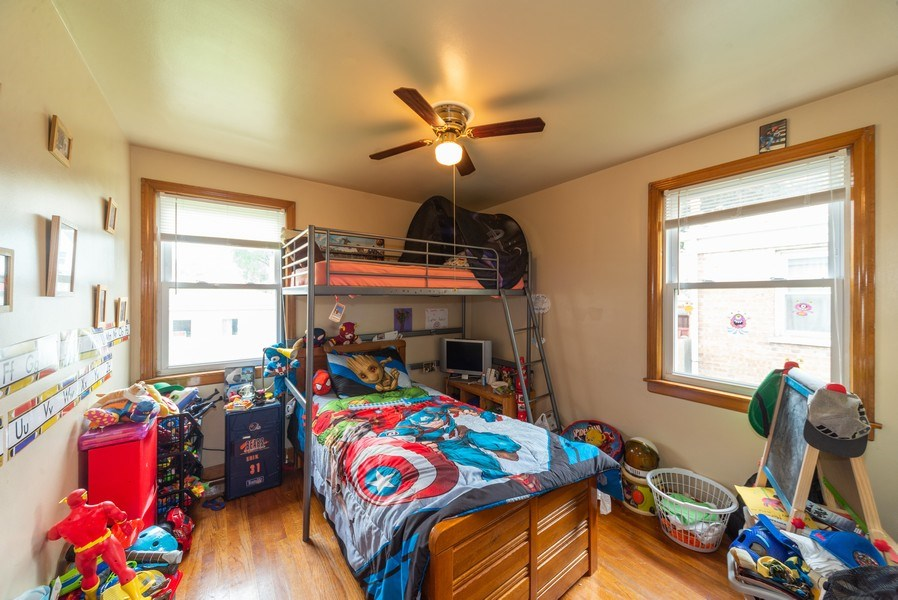 Real Estate Photography - 1028 Linden Avenue, Bellwood, IL, 60104 - 2nd Bedroom