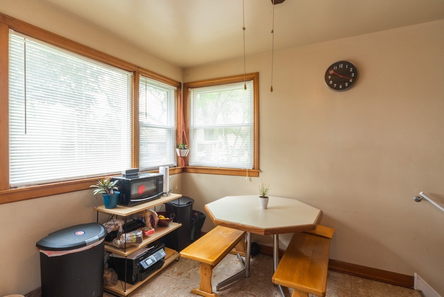 Real Estate Photography - 1028 Linden Avenue, Bellwood, IL, 60104 - Breakfast Nook