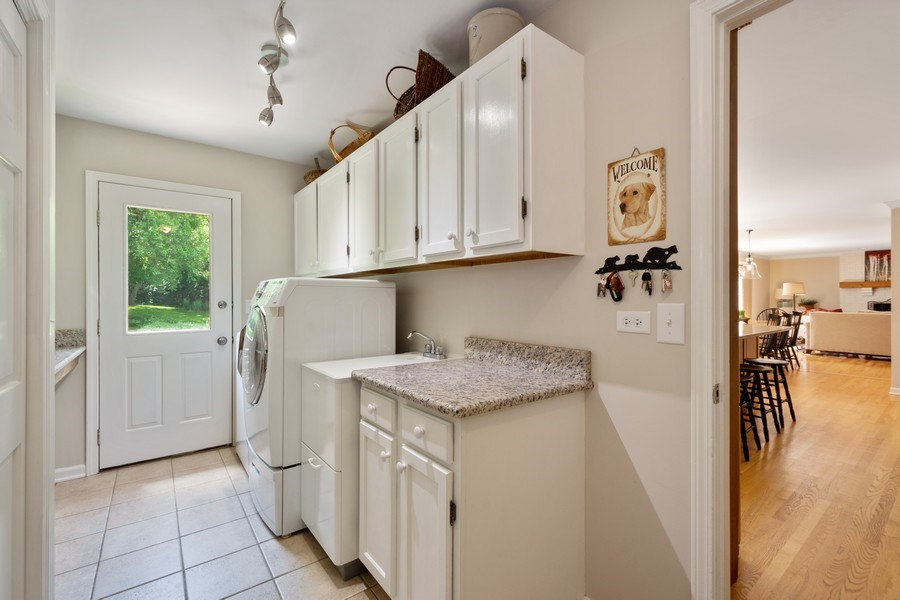 Real Estate Photography - 22480 N. Linden Drive, Lake Barrington, IL, 60010 - Laundry Room