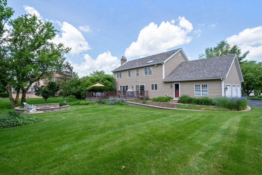 Real Estate Photography - 22480 N. Linden Drive, Lake Barrington, IL, 60010 - Rear View