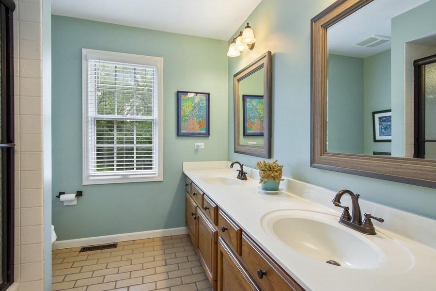 Real Estate Photography - 22480 N. Linden Drive, Lake Barrington, IL, 60010 - 2nd Bathroom
