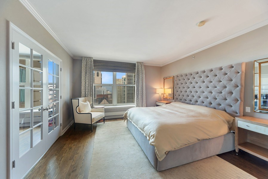 Real Estate Photography - 25 E. SUPERIOR Street, Unit 3205, Chicago, IL, 60611 - Master Bedroom