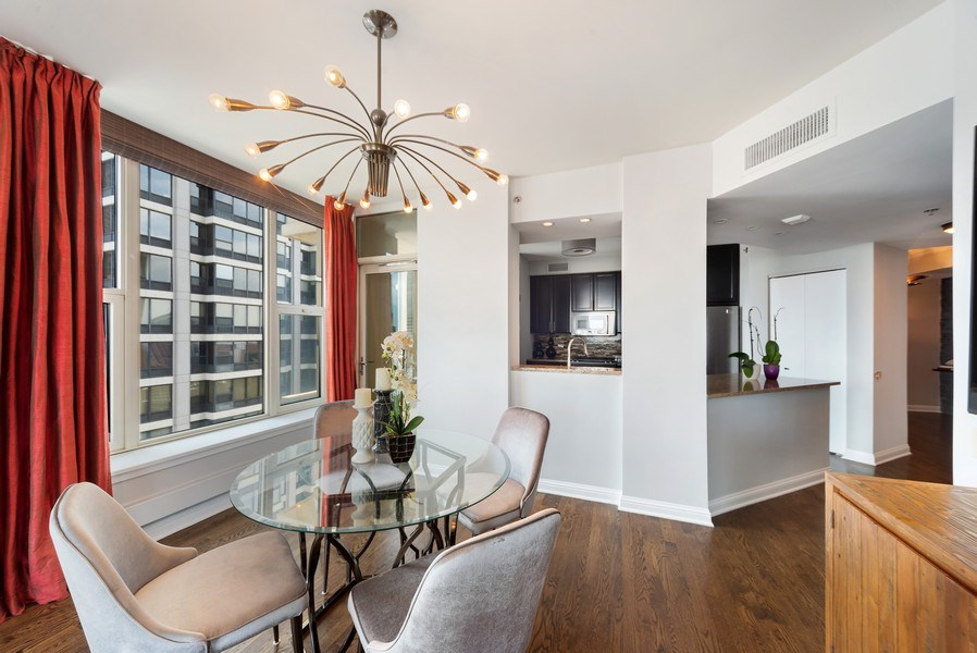 Real Estate Photography - 25 E. SUPERIOR Street, Unit 3205, Chicago, IL, 60611 - Living Room / Dining Room