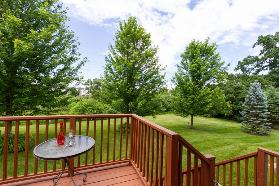 Real Estate Photography - 1270 W. Black Wolf Road, Round Lake, IL, 60073 - Deck