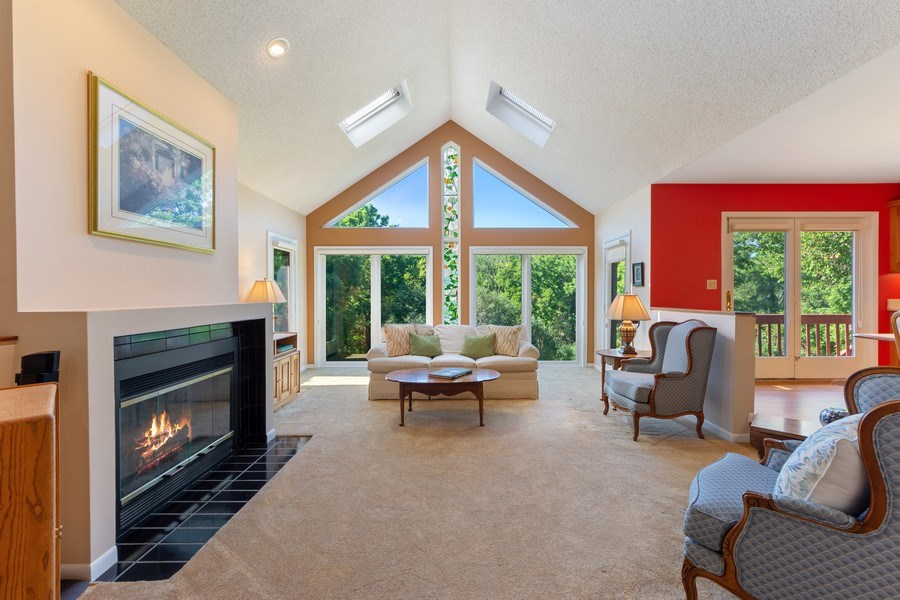 Real Estate Photography - 24841 South Drive, Tower Lakes, IL, 60010 - Living Room