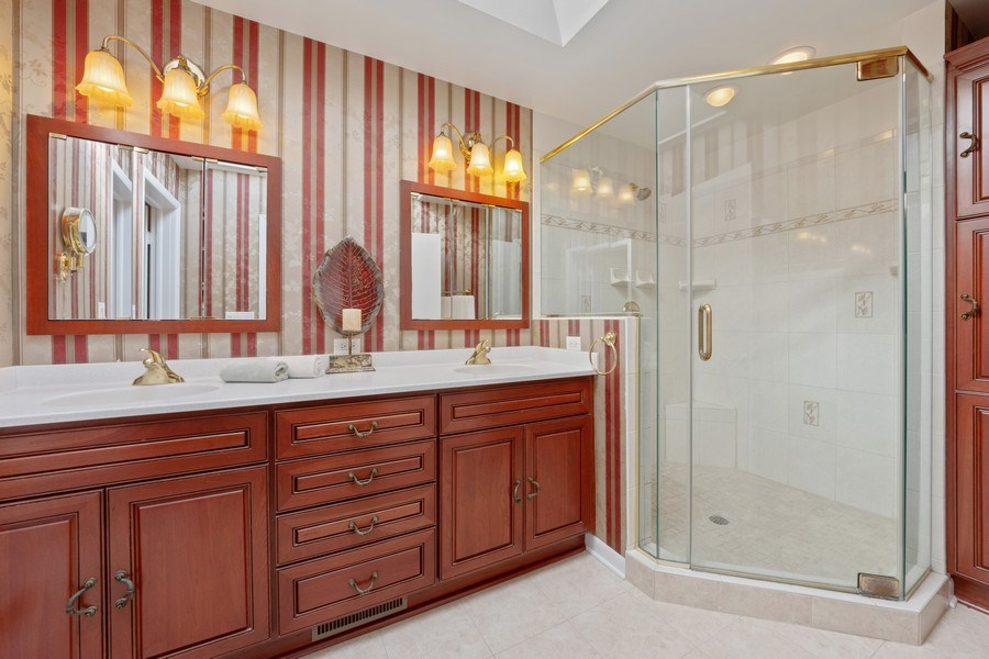 Real Estate Photography - 24841 South Drive, Tower Lakes, IL, 60010 - Master Bathroom