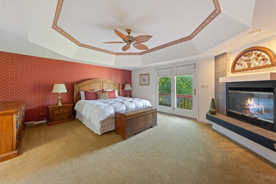 Real Estate Photography - 24841 South Drive, Tower Lakes, IL, 60010 - Master Bedroom
