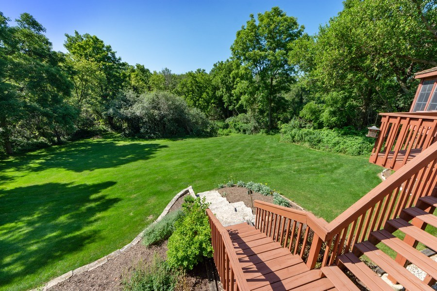 Real Estate Photography - 24841 South Drive, Tower Lakes, IL, 60010 - Back Yard
