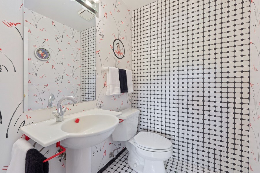 Real Estate Photography - 24841 South Drive, Tower Lakes, IL, 60010 - Powder Room