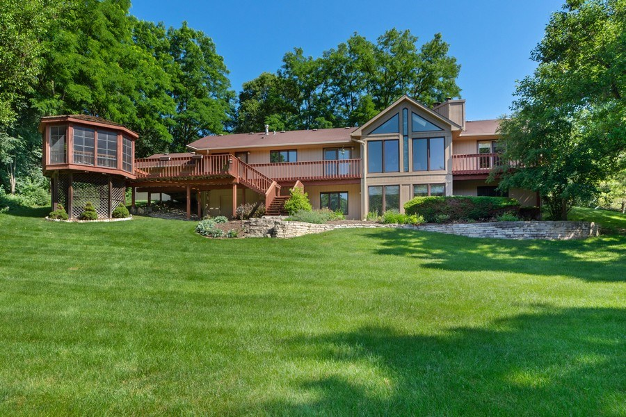 Real Estate Photography - 24841 South Drive, Tower Lakes, IL, 60010 - Back Yard and Rear View