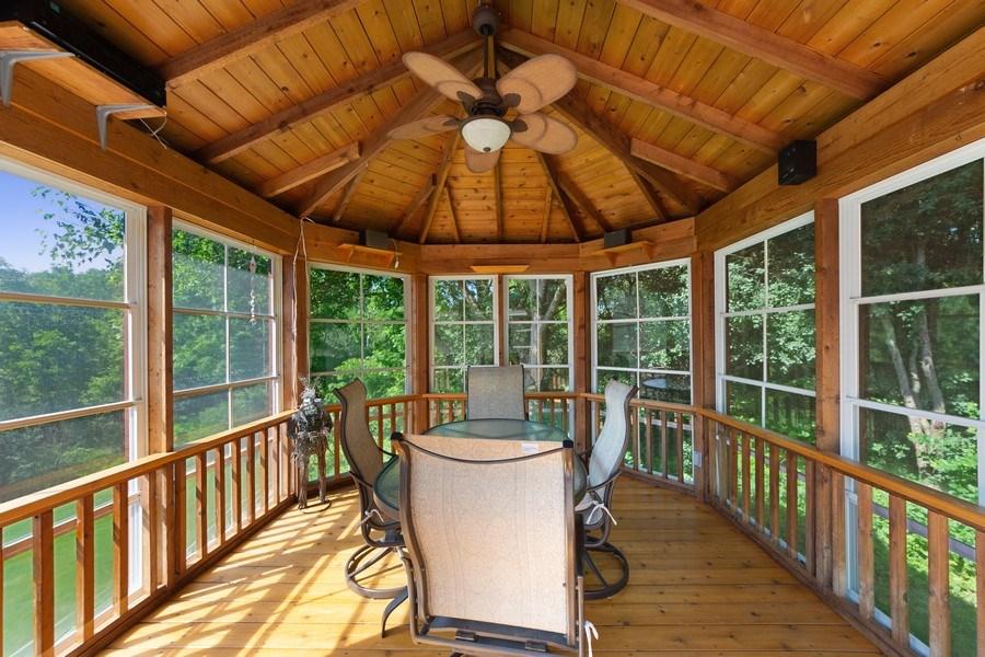 Real Estate Photography - 24841 South Drive, Tower Lakes, IL, 60010 - Gazebo