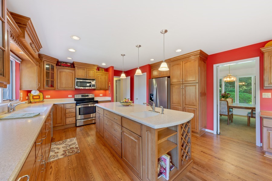 Real Estate Photography - 24841 South Drive, Tower Lakes, IL, 60010 - Kitchen / Dining Room