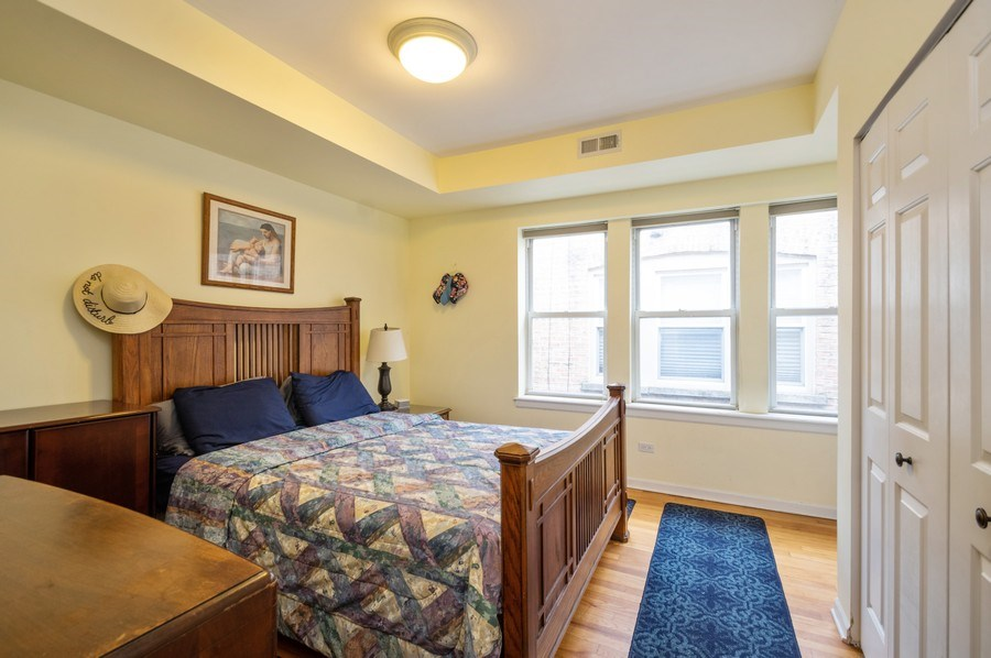 Real Estate Photography - 7321 N. Honore Street, Unit 3S, Chicago, IL, 60626 - Master Bedroom