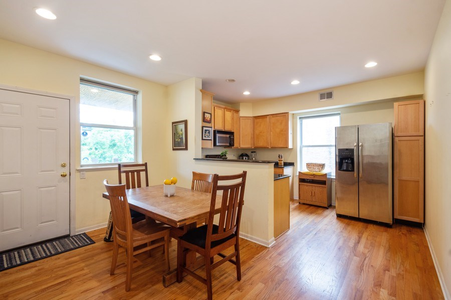 Real Estate Photography - 7321 N. Honore Street, Unit 3S, Chicago, IL, 60626 - Kitchen / Dining Room
