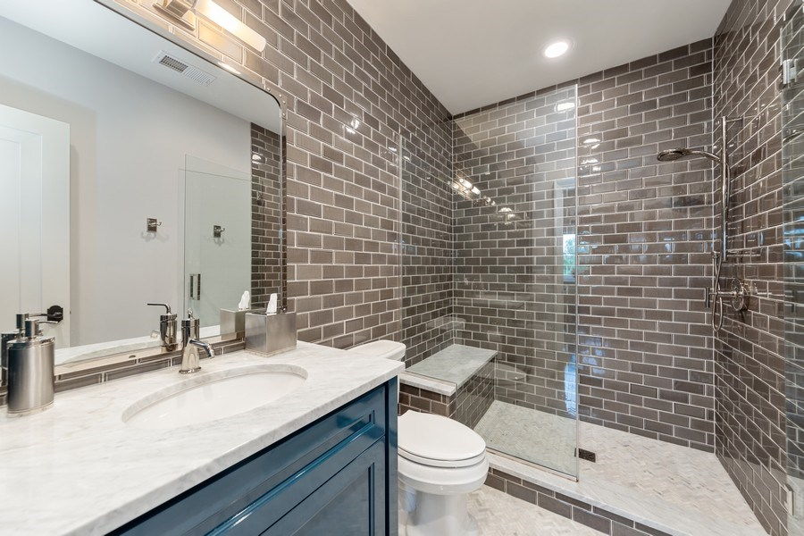 Real Estate Photography - 7430 Arbor Avenue, Burr Ridge, IL, 60527 - 3rd Bathroom