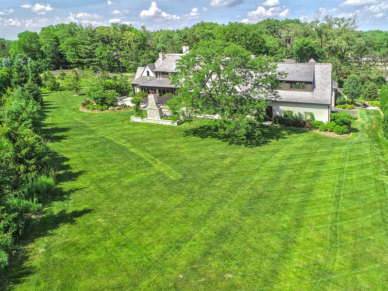 Real Estate Photography - 7430 Arbor Avenue, Burr Ridge, IL, 60527 - Aerial View