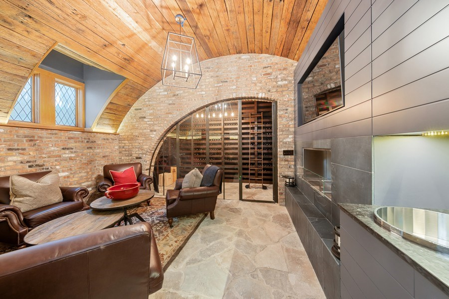 Real Estate Photography - 7430 Arbor Avenue, Burr Ridge, IL, 60527 - Wine Cellar