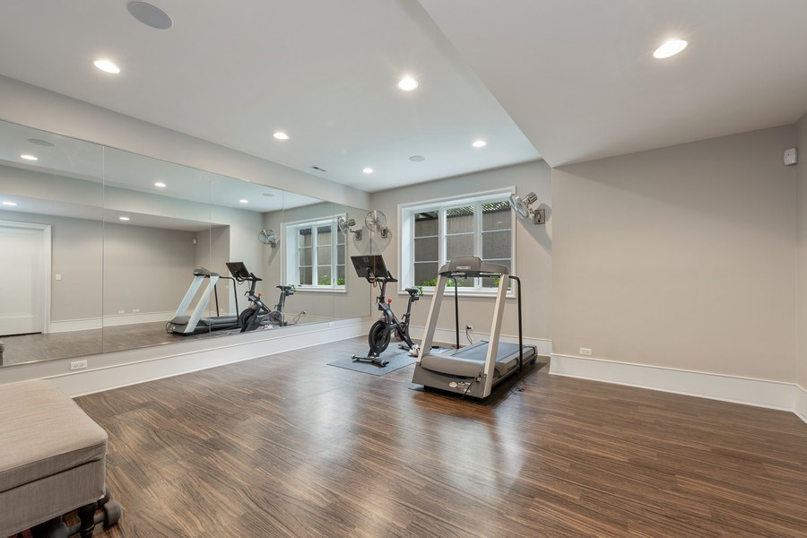 Real Estate Photography - 7430 Arbor Avenue, Burr Ridge, IL, 60527 - Fitness Room