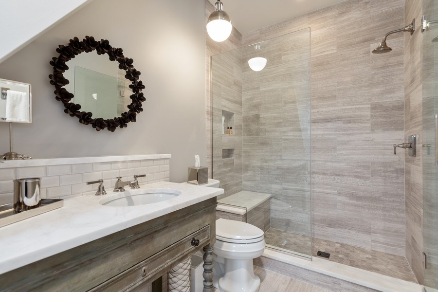 Real Estate Photography - 7430 Arbor Avenue, Burr Ridge, IL, 60527 - Bathroom
