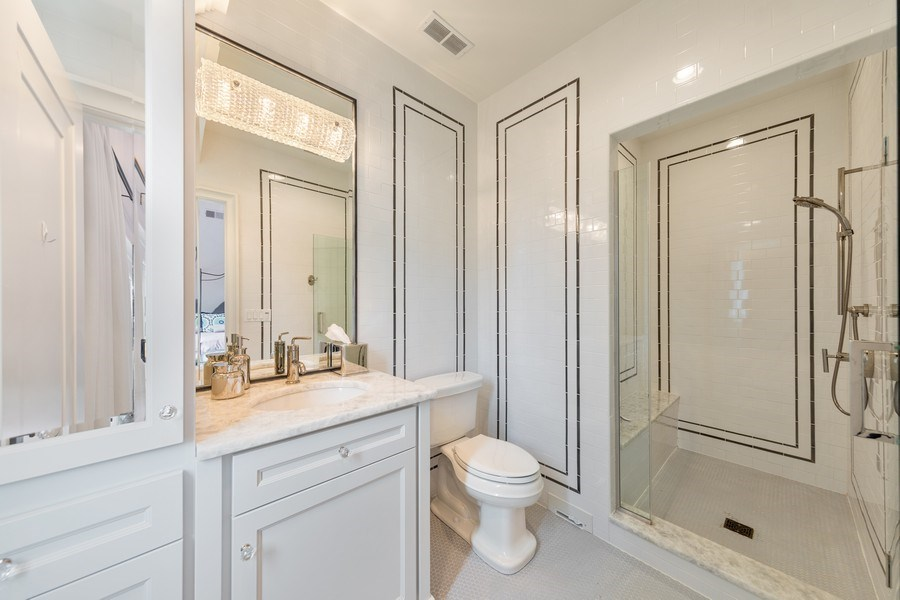 Real Estate Photography - 7430 Arbor Avenue, Burr Ridge, IL, 60527 - 2nd Bathroom