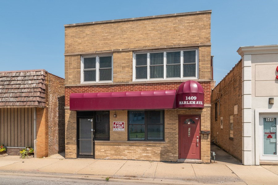 Real Estate Photography - 1409 Harlem Ave, Berwyn, IL, 60402 - Front View