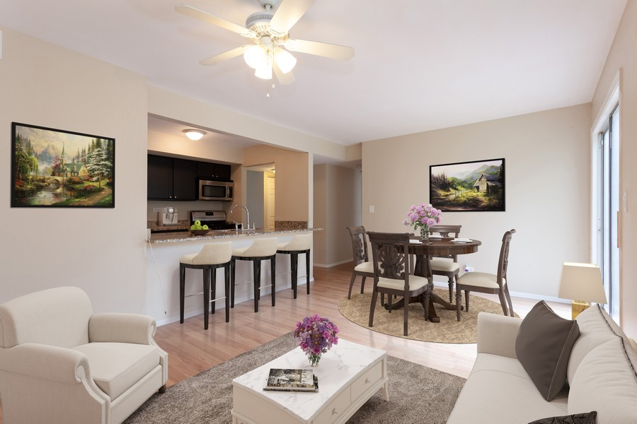 Real Estate Photography - 2930 Pine Tree Court, Aurora, IL, 60502 - Family room staged