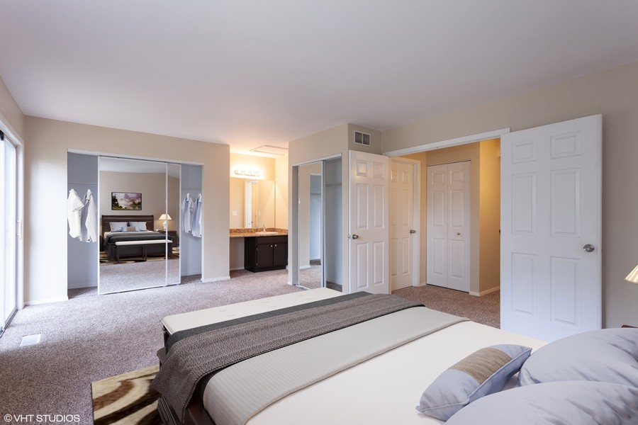 Real Estate Photography - 2930 Pine Tree Court, Aurora, IL, 60502 - Master Bedroom staged
