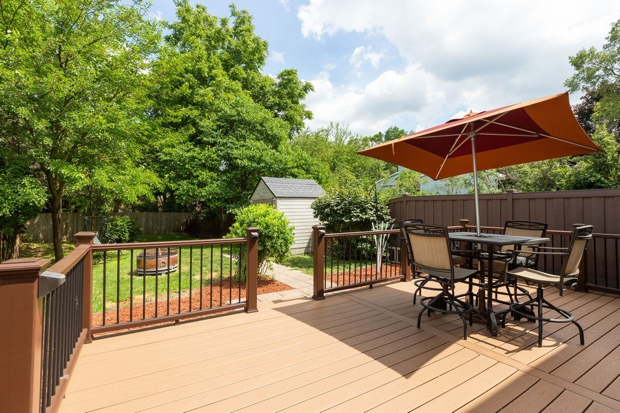 Real Estate Photography - 7S409 CREEK Drive, Naperville, IL, 60540 - EXTERIOR REAR VIEW/DECK