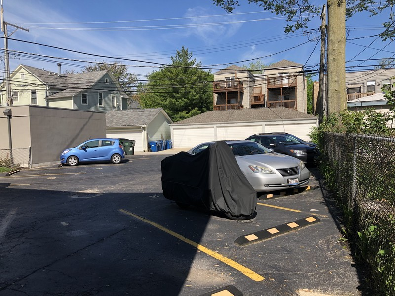 Real Estate Photography - 4881 N. Hermitage Avenue, Unit 102, Chicago, IL, 60640 - PARKING LOT FROM GATE
