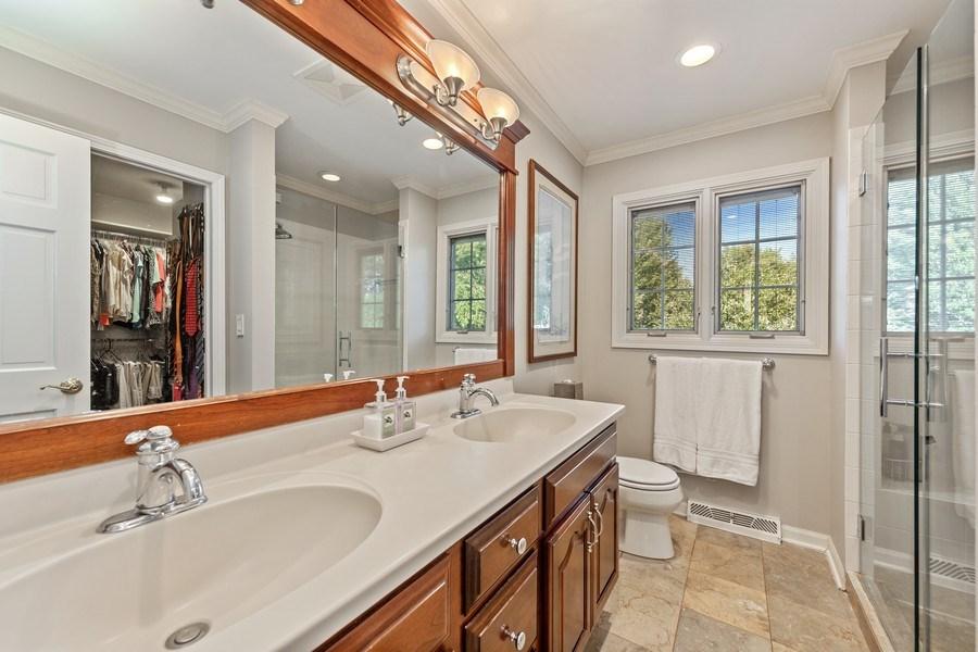 Real Estate Photography - 1937 Buckingham Drive, Wheaton, IL, 60189 - Master Bathroom