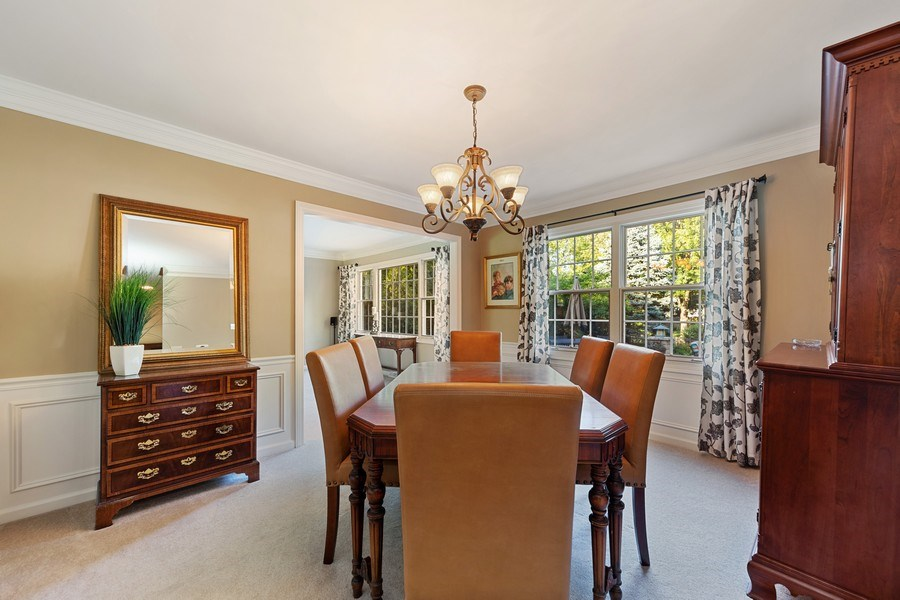 Real Estate Photography - 1937 Buckingham Drive, Wheaton, IL, 60189 - Dining Room