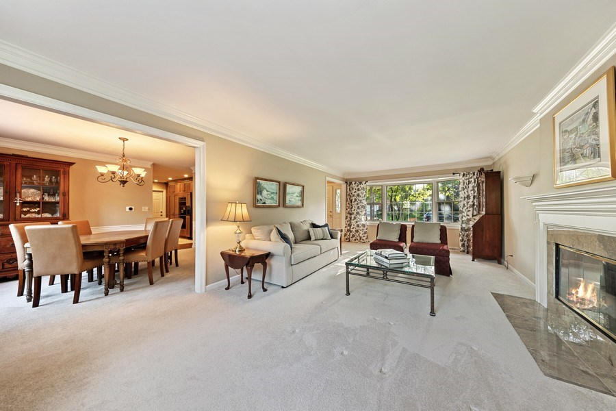 Real Estate Photography - 1937 Buckingham Drive, Wheaton, IL, 60189 - Living Room / Dining Room