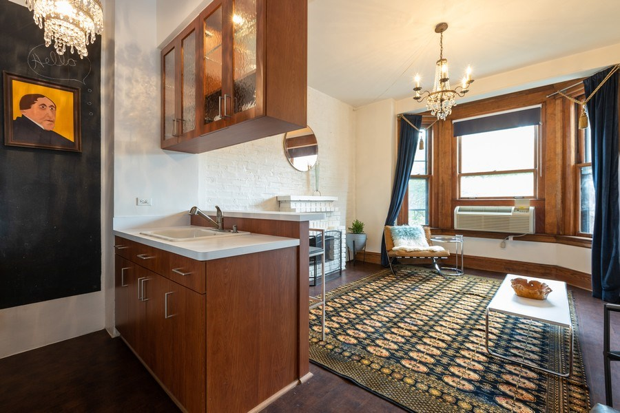 Real Estate Photography - 2800 N. PINE GROVE Avenue, Unit 3C, Chicago, IL, 60657 - Kitchen / Living Room