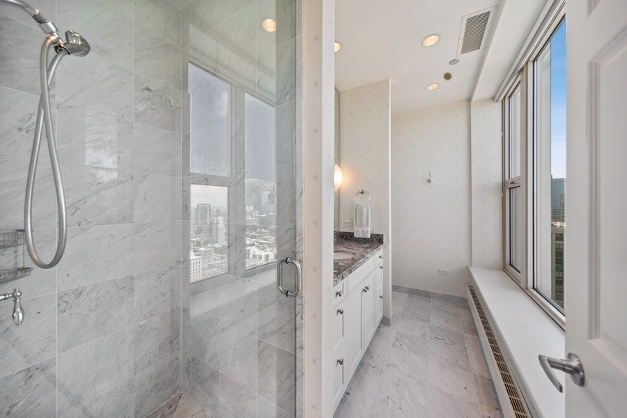 Real Estate Photography - 25 East Superior St, 4301, Chicago, IL, 60611 - Master Bathroom