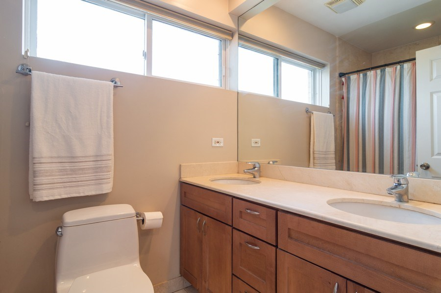 Real Estate Photography - 3337 W. IRVING PARK Road, Unit 3E, Chicago, IL, 60618 - Master Bathroom