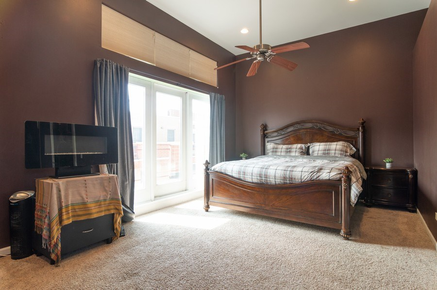 Real Estate Photography - 3337 W. IRVING PARK Road, Unit 3E, Chicago, IL, 60618 - Master Bedroom