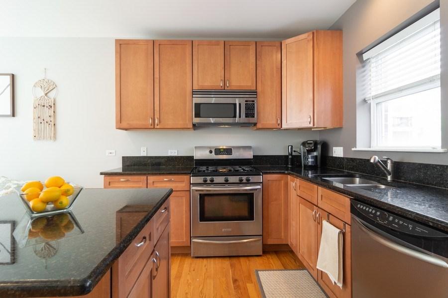 Real Estate Photography - 3337 W. IRVING PARK Road, Unit 3E, Chicago, IL, 60618 - Kitchen