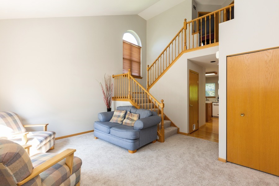 Real Estate Photography - 2445 Meadowsedge Lane, Carpentersville, IL, 60110 - LIVING ROOM--Bright and sunny room!