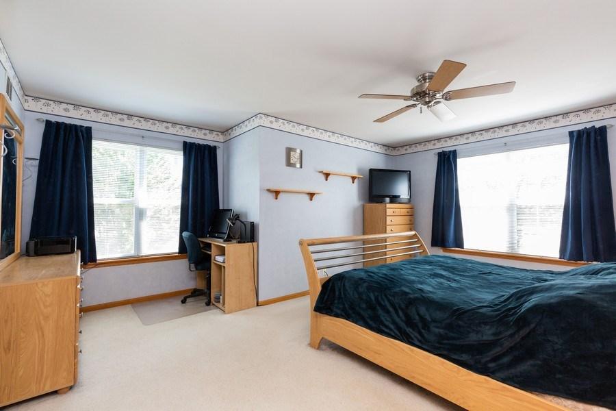 Real Estate Photography - 2445 Meadowsedge Lane, Carpentersville, IL, 60110 - MASTER BEDROOM--Room for large furniture!