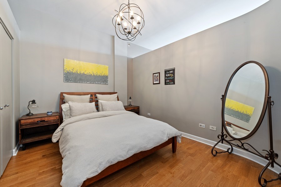 Real Estate Photography - 15 South Throop St, 606, Chicago, IL, 60607 - Bedroom