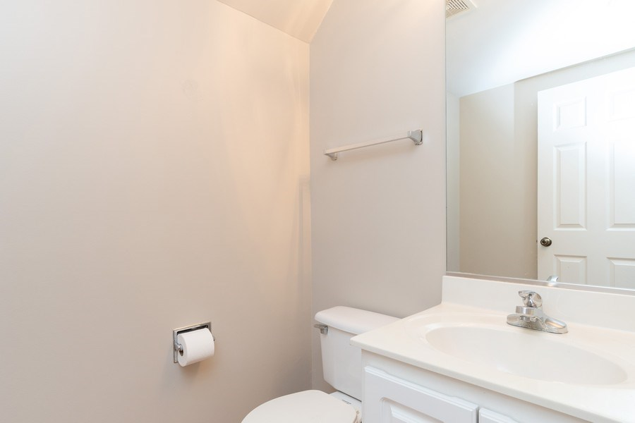Real Estate Photography - 2454 Frost Drive, Unit 2454, Aurora, IL, 60503 - Half Bath