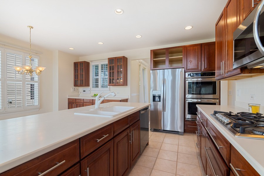 Real Estate Photography - 2315 Chestnut Avenue, Glenview, IL, 60026 - Huge Kitchen with Breakfast Bar