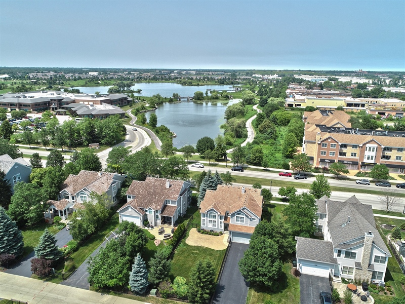 Real Estate Photography - 2315 Chestnut Avenue, Glenview, IL, 60026 - Aerial View