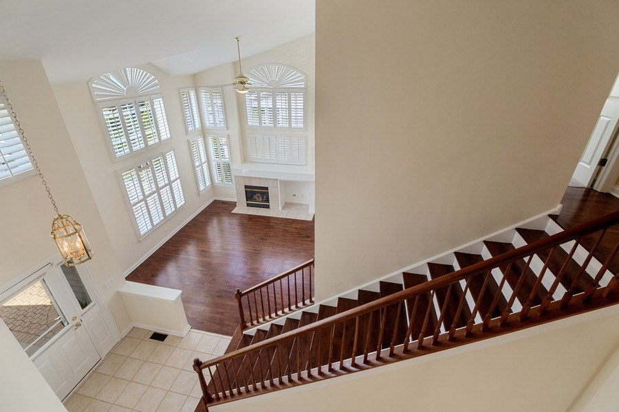 Real Estate Photography - 2315 Chestnut Avenue, Glenview, IL, 60026 - Gorgeous View from 2nd Floor Landing