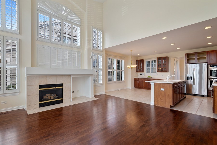Real Estate Photography - 2315 Chestnut Avenue, Glenview, IL, 60026 - Open Concept Great Room/Kitchen
