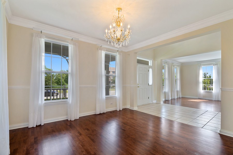 Real Estate Photography - 2315 Chestnut Avenue, Glenview, IL, 60026 - Formal Dining Room with gorgeous Hardwood Floors