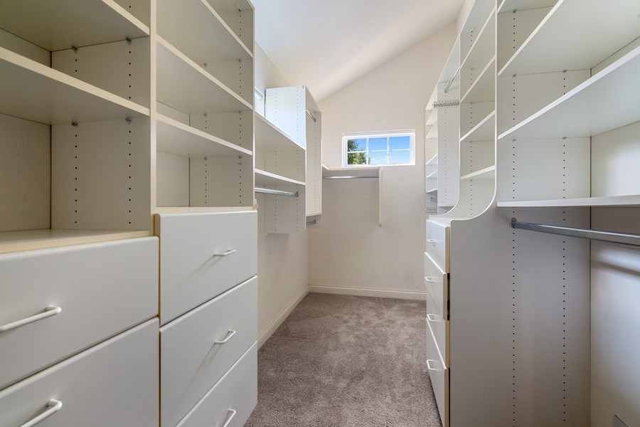 Real Estate Photography - 2315 Chestnut Avenue, Glenview, IL, 60026 - Master BR Walk in Closet w/custom Organization and