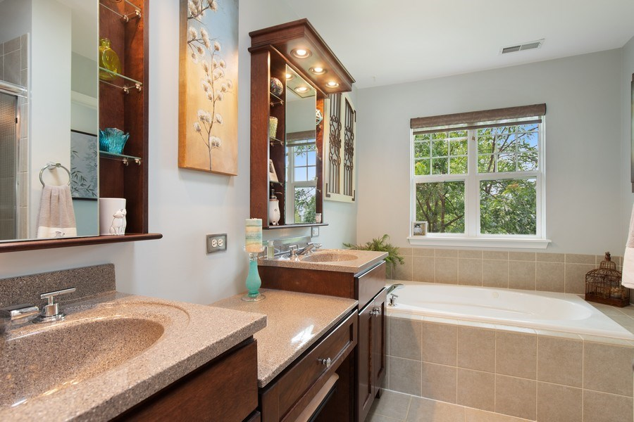 Real Estate Photography - 866 Deer Path Drive, Antioch, IL, 60002 - Master Bathroom