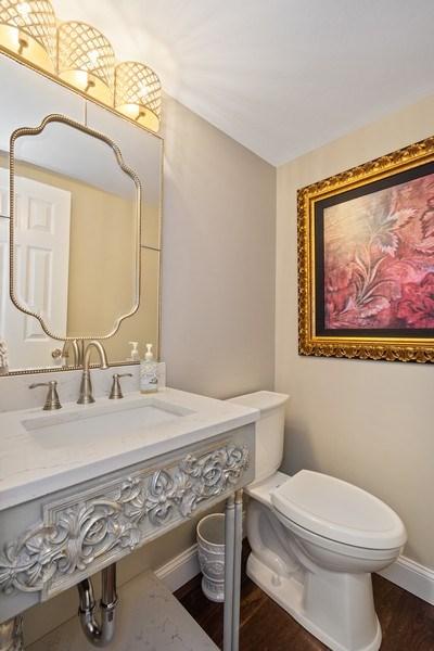 Real Estate Photography - 163 N. Shoreline Road, Lake Barrington, IL, 60010 - Powder Room